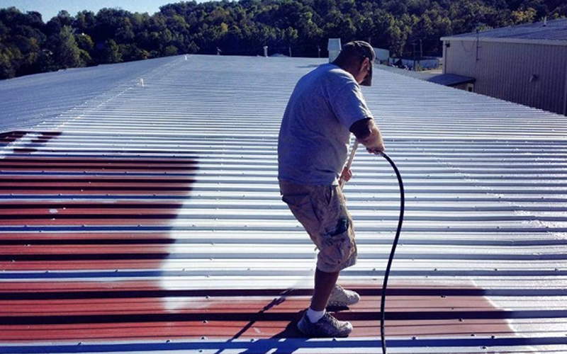 Sika cool roof coating for metal