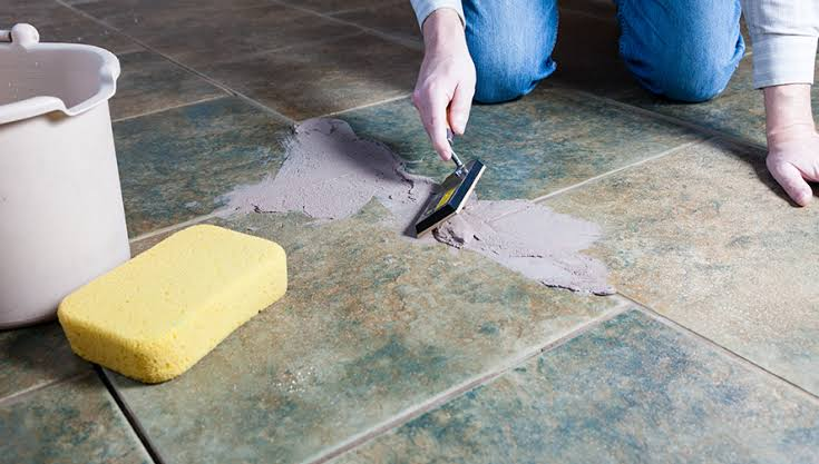 epoxy grout application